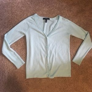 Mint Green Forever 21 Button-Down Cardigan